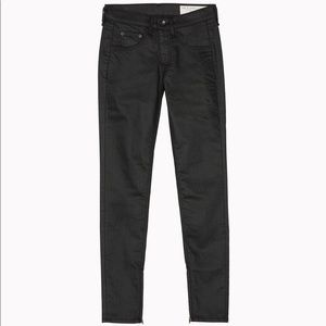 Rag & Bone Black Skinny Zipper Capri Shoreditch